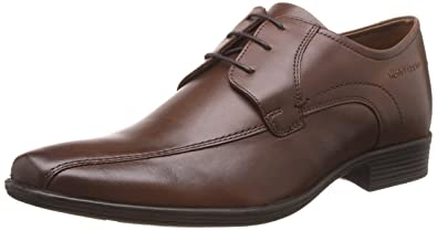 Hush Puppies Men's Boston Lace Up Brown Leather Formal Shoes - 10 UK/India (