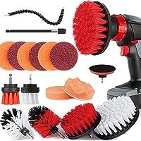 Cottonix Borstelopzetstuk boormachine set 18 stuks, schrobpads en spons, polijstpads, power scrubberborstel met verlengd…