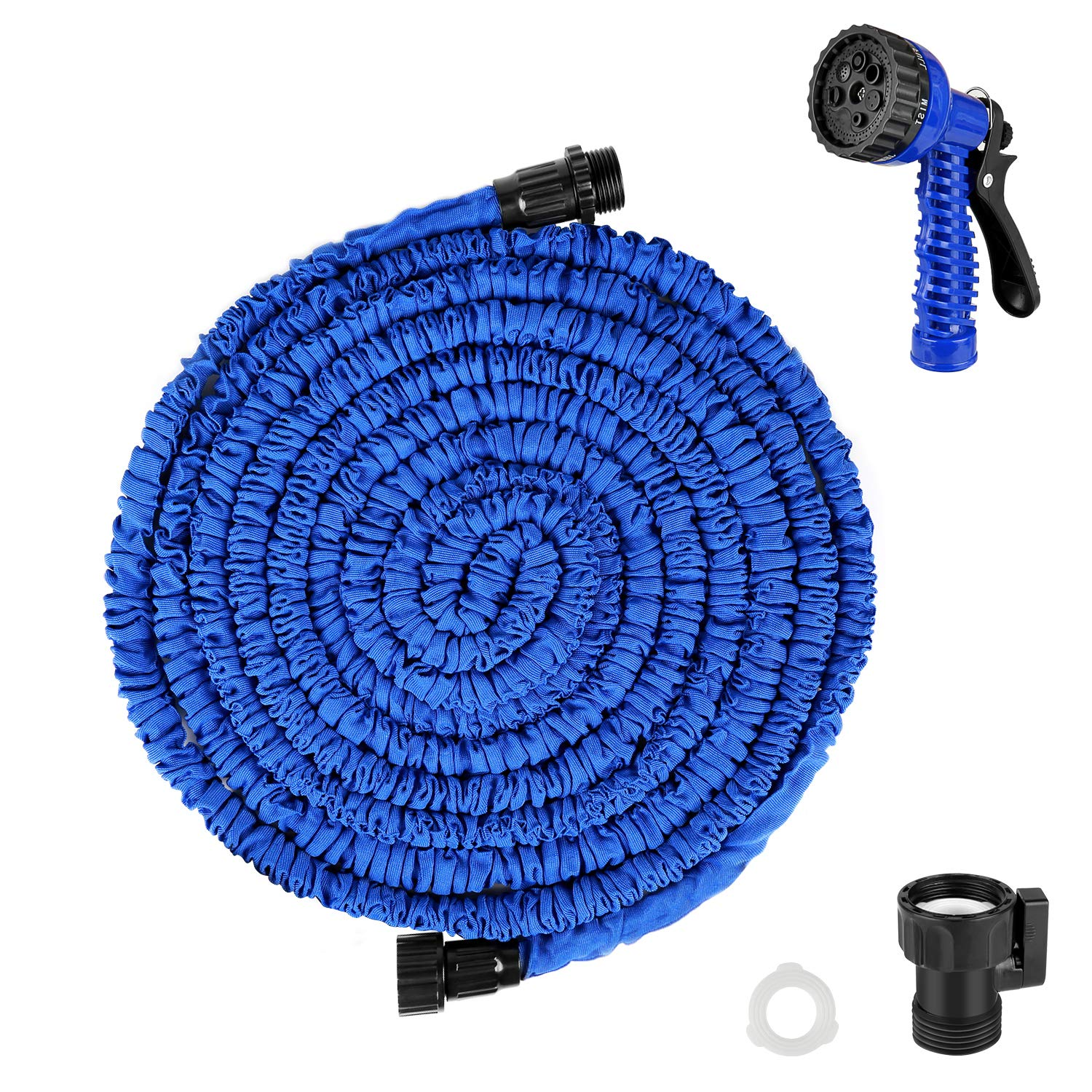 IEKA Expandable Garden Hose, 50FT Lightweight Flexible Expanding Pressure Water Garden Hose Kit Satisfy for All Watering Needs