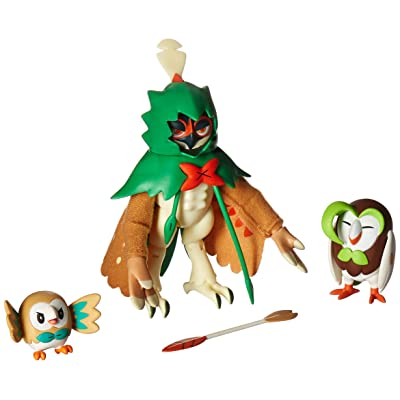 Pokemon Decidueye Evolution 3 inch Action Figure - Rowlet: Toys & Games