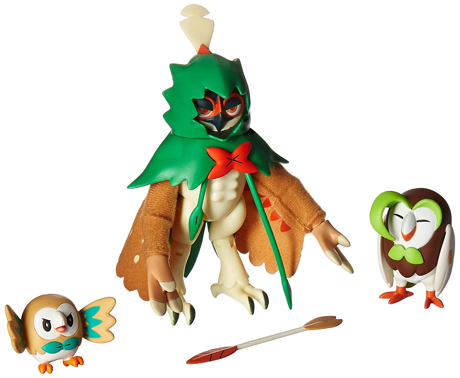 Amazoncom Pokemon Decidueye Evolution 3 Inch Action Figure