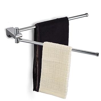 Ecooe Handtuchstange Beweglich 180° Drehung Handtuchhalter mit 2 ...