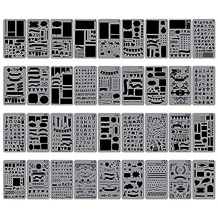 Amazon Biubee 40 Pcs Bullet Journal Stencils Over 40 Mesmerizing Different Patterns