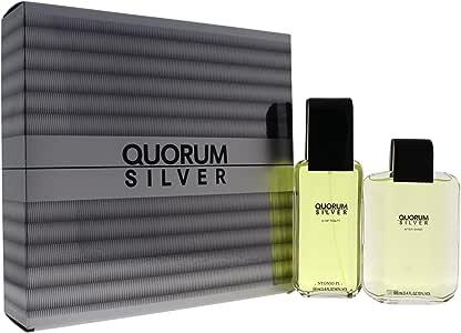 Antonio Puig Gift Set for Men, Quorum Silver (Pack of 2)