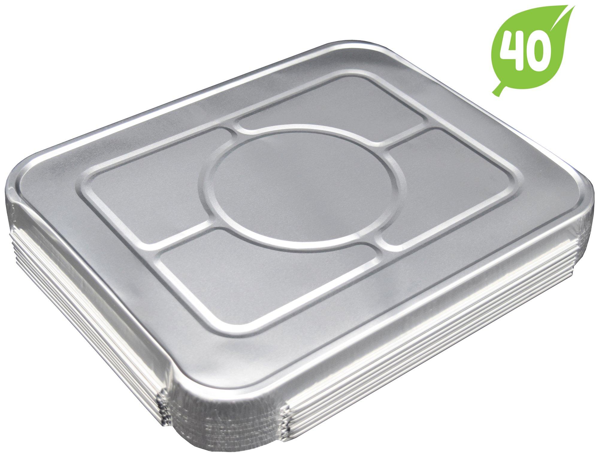 (40 Pack) Lids for Chafing Pans 9'' x 13'' Half Deep Pans l Top Choice Aluminum Foil