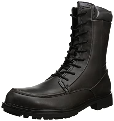 Amazon.com   Calvin Klein Men\'s Ogden Leather Boot   Motorcycle ...