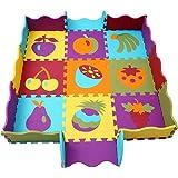 Mattonelle Puzzle Bambini Tappeto Puzzle Bambini Tappetini Puzzle per Bambini 25 Pezzi Con La Recinzione meiqicool 006B