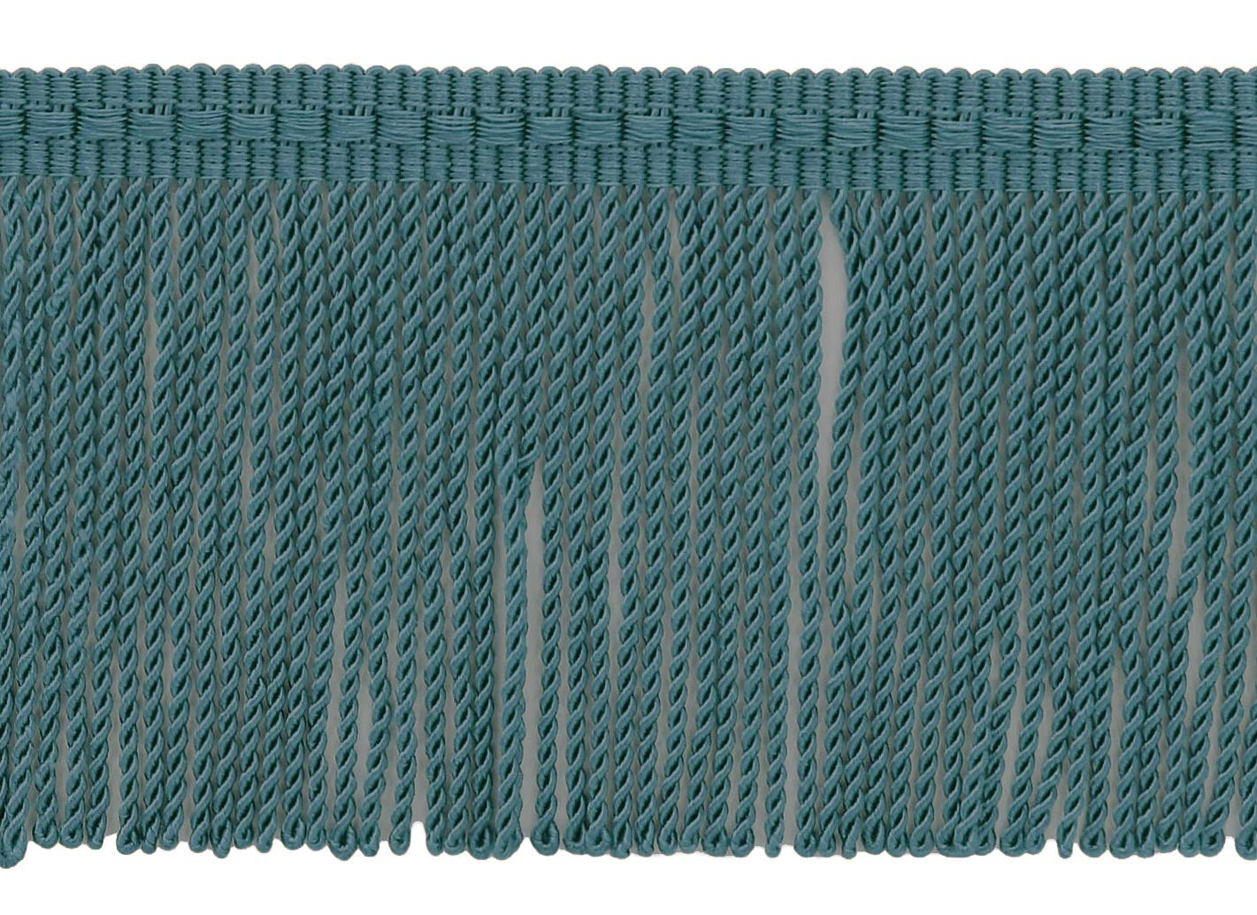 D/ÉCOPRO 3 Inch Long Teal Blue Thin Bullion Fringe Trim|Style# BFTC3|Color 9620|Sold by The Yard Light Peacock Blue