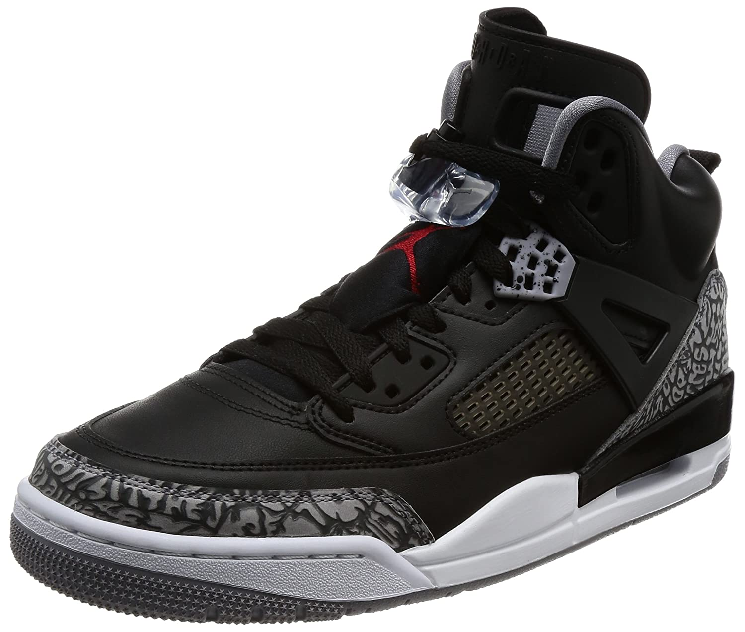 hot sale online 49f31 a24e7 Nike Men s Air Jordan Spizike Black Cement Black White Red (11. 5 D(M) US)   Buy Online at Low Prices in India - Amazon.in