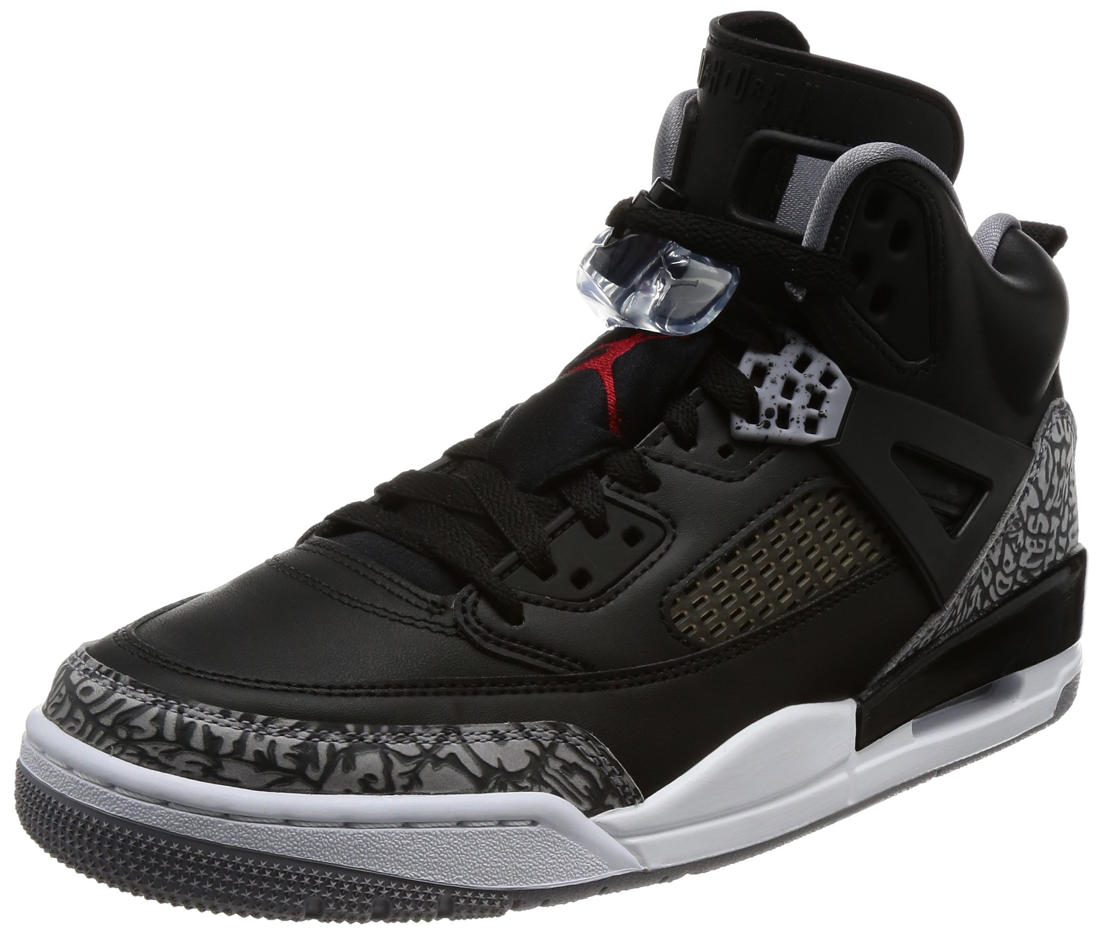Jordan Spizike Mens Basketball Shoes Black/Grey/Red 315371-034 (10 D(M) US)
