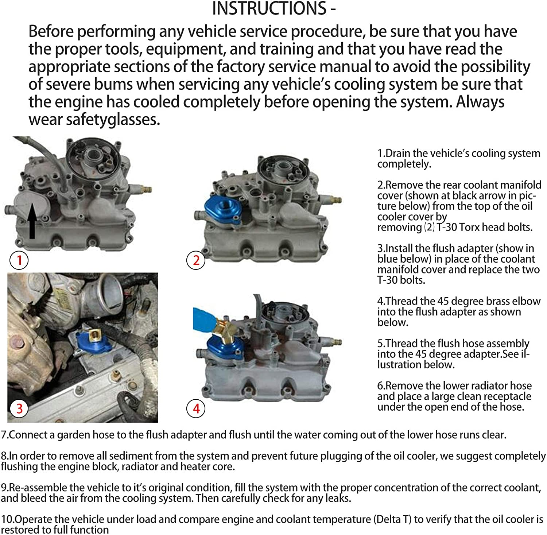 6.0L Oil Cooler Flush Kit Great Replacement Oil Cooler Flush Kit ...