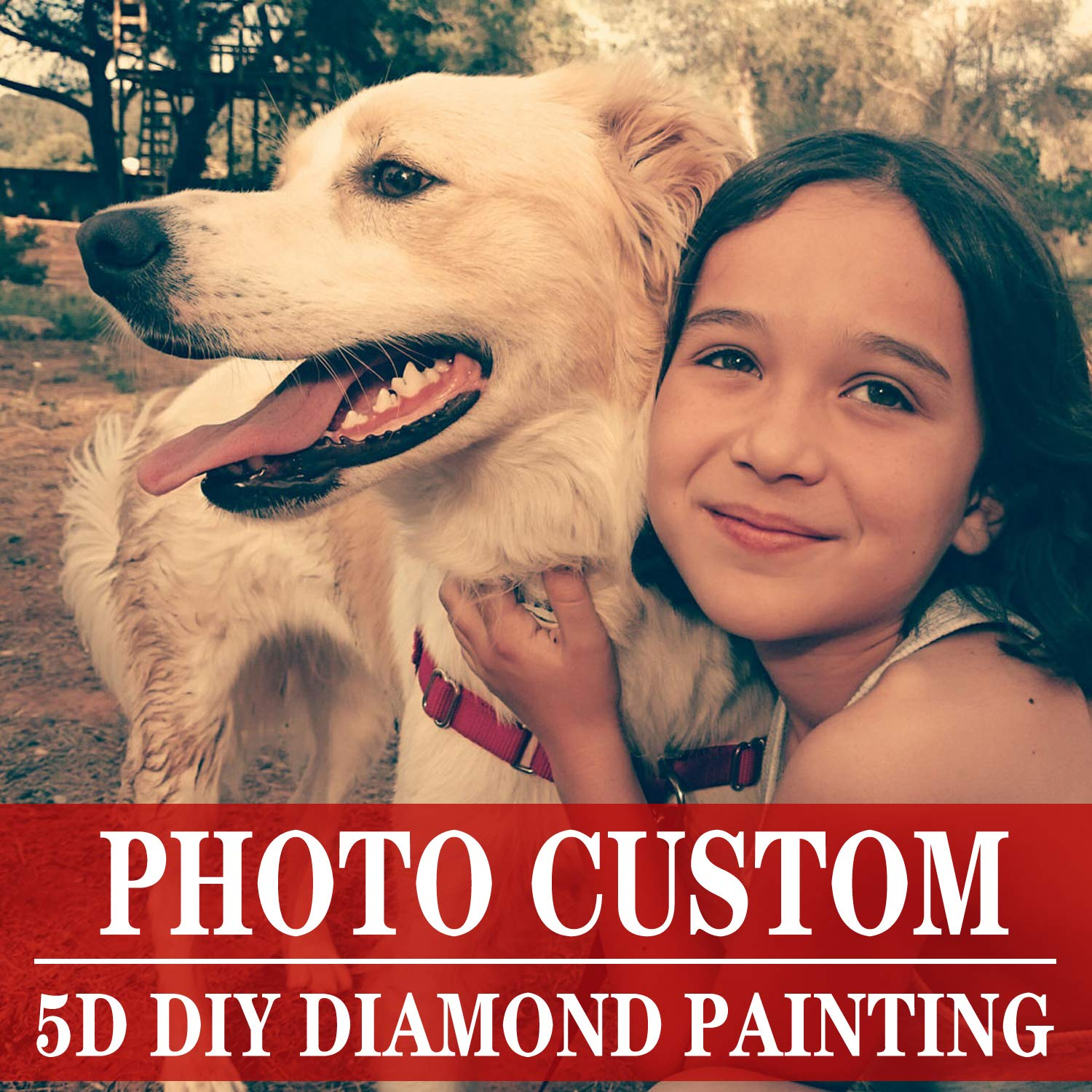 Private Custom Your Own Personalized Picture/Custom Diamond Painting Full Drill Kits for Adults/Birthday Gift Home Wall Decor 23.6×35.4 in/60×90 cm by MAXFYOU