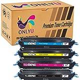 ONLYU Compatible impresoras HP 124A HP 2600 Q6000A Q6001A Q6002A Q6003A Cartucho de Tóner de Alto Rendimiento Para HP Color LaserJet 1600 2600n 2605dn 2605dtn CM1015 1-Conjunto (1Negro 1Cian 1Magenta 1Amarillo)