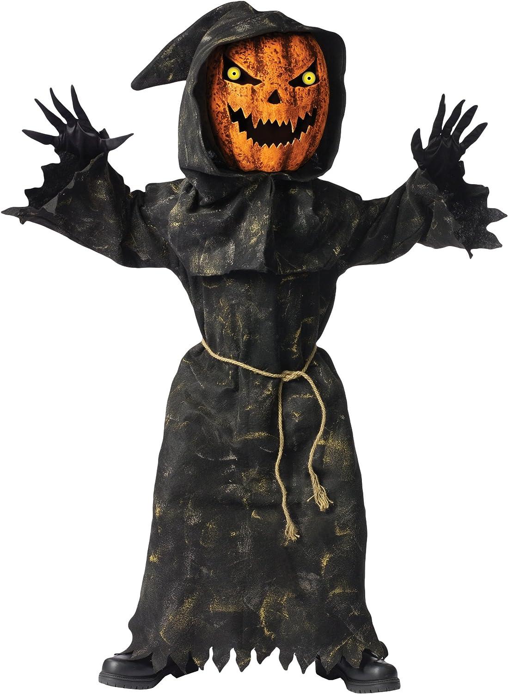 Bobble Head Pumpkin Ghoul Kids Costume