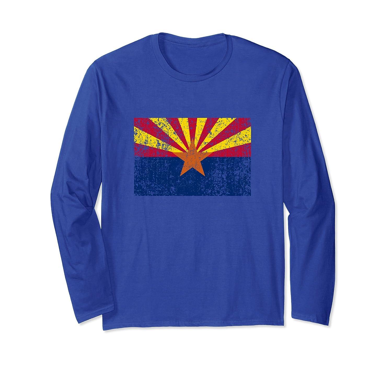 State Flag of Arizona Distressed T Shirt Men Women-mt