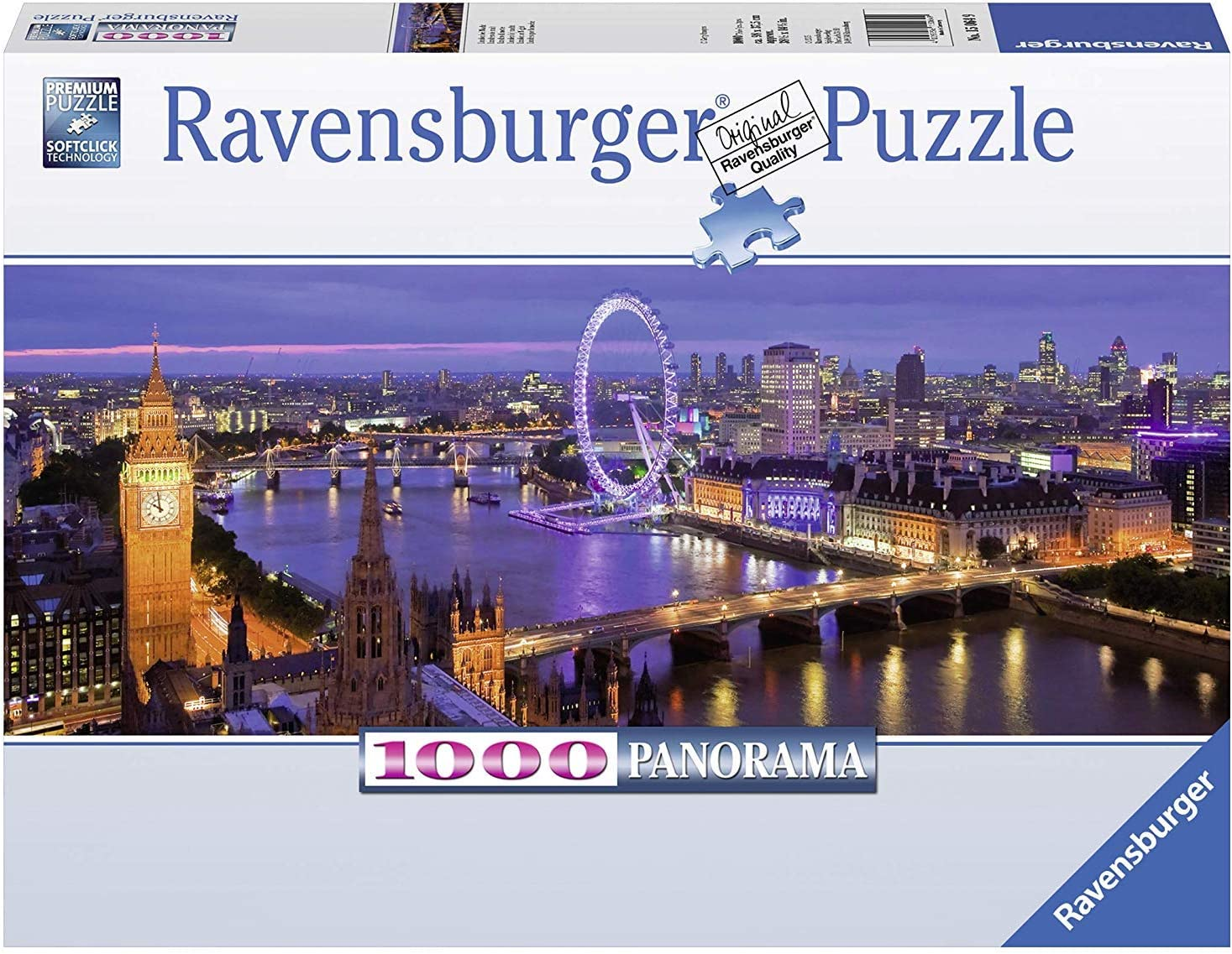 London Nighttime Panorama by the Thames 1000-piece jigsaw puzzle