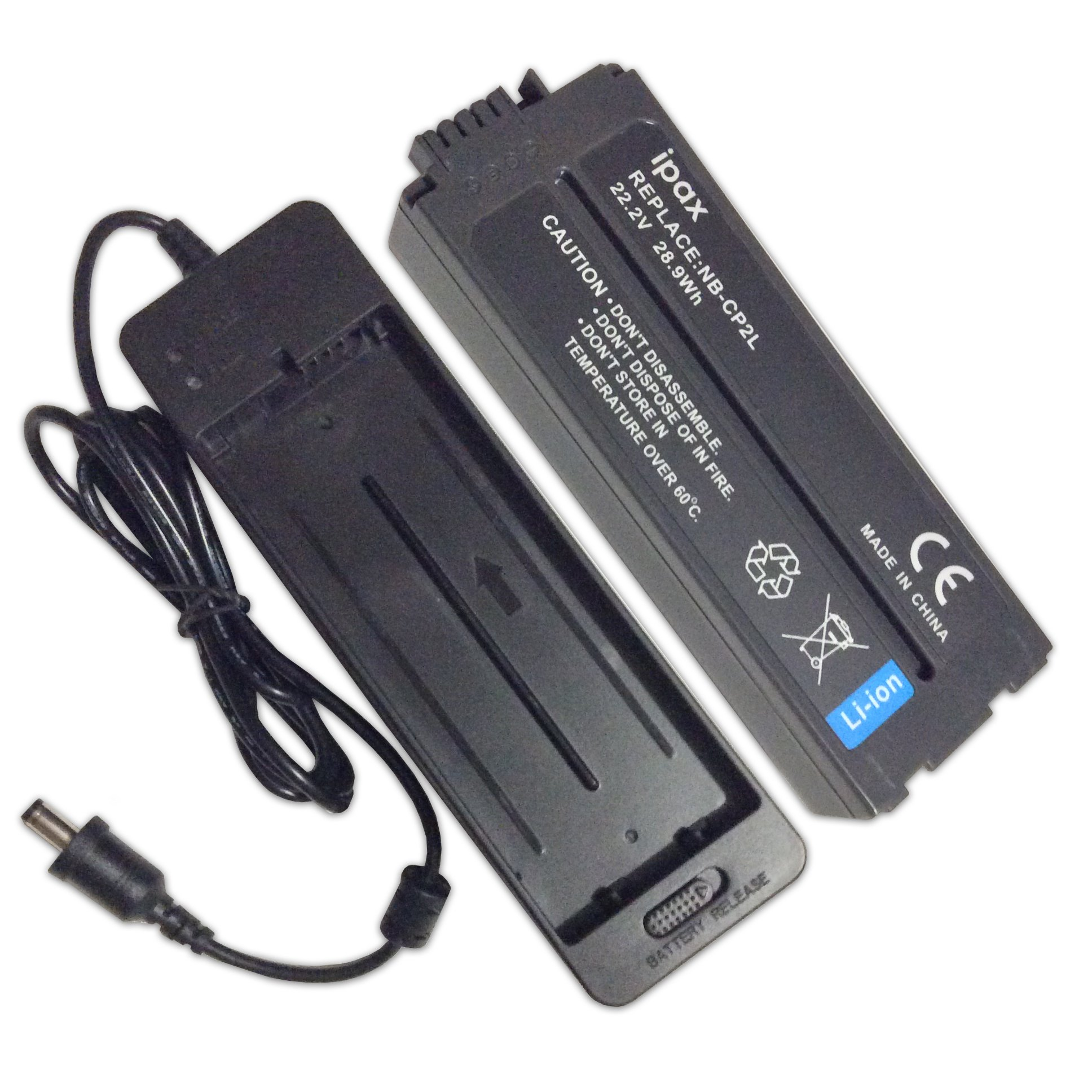 IPAX Battery and Charger for Canon Selphy Photo Printers NB-CP2L NB-CP2LH NB-CP1L CP200, CP300, CP330, CP510, CP600, CP710, CP730, CP770, CP780, CP790, CP800, CP900, CP910, CP1200,CP1300 with case