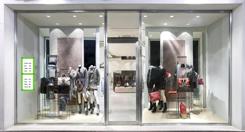 per manifesti per negozi e vetrine Displaid in plastica formato DIN A4 cartelli orari di apertura bianco cornice intercambiabile pubblicit/à
