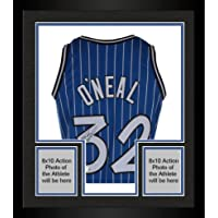$454 » Framed Shaquille O'Neal Orlando Magic Autographed Mitchell & Ness Hardwood Classic Swingman 1995-1996 Blue Pinstripe Replica…