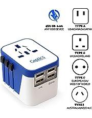 Ceptics Grounded Universal Plug Adapter