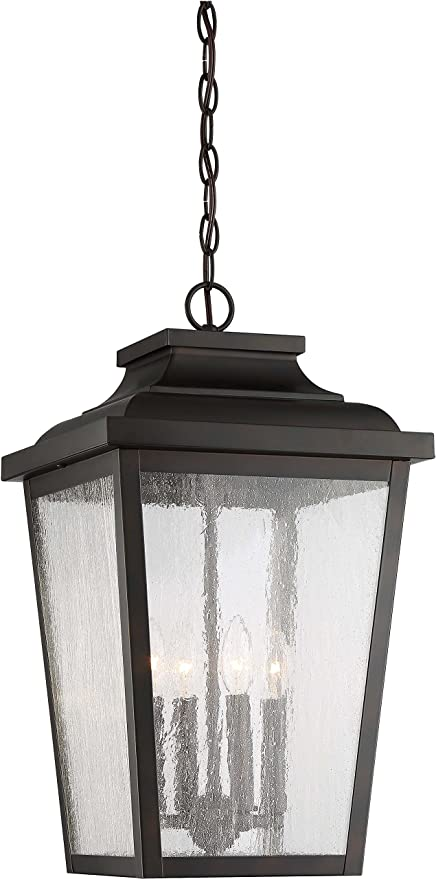 1-Light LED 13 Watts Chelesa Bronze Minka Lavery Outdoor Pendant Lighting 72175-189-L Irvington Manor