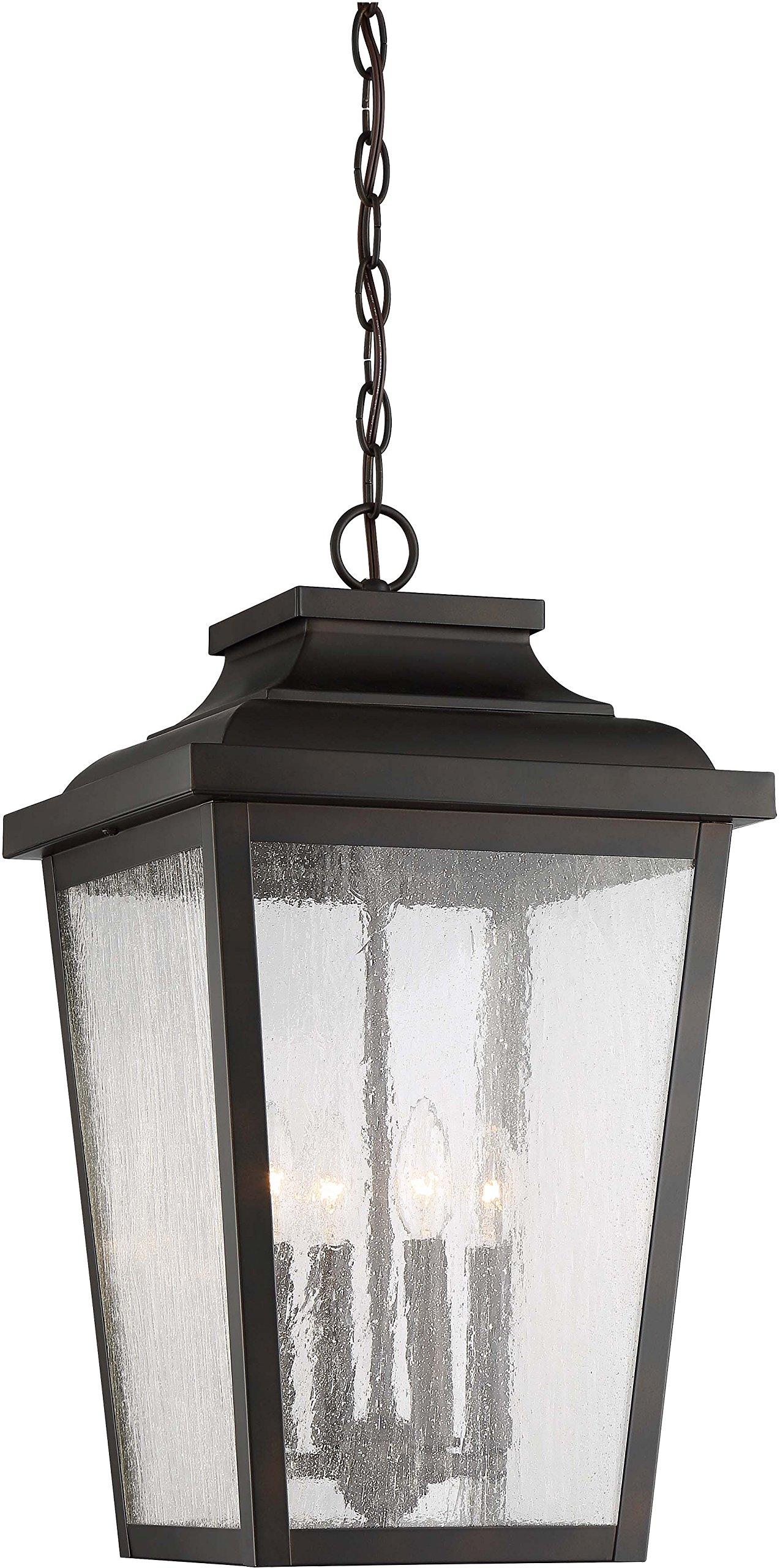 Minka Lavery Outdoor Pendant Lighting 72175-189 Irvington Manor, 4-Light 240 Watts, Chelesa Bronze