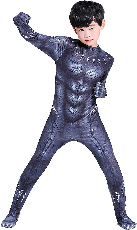 Gempack Black Panther Costume for Kids Men Adult with Mask