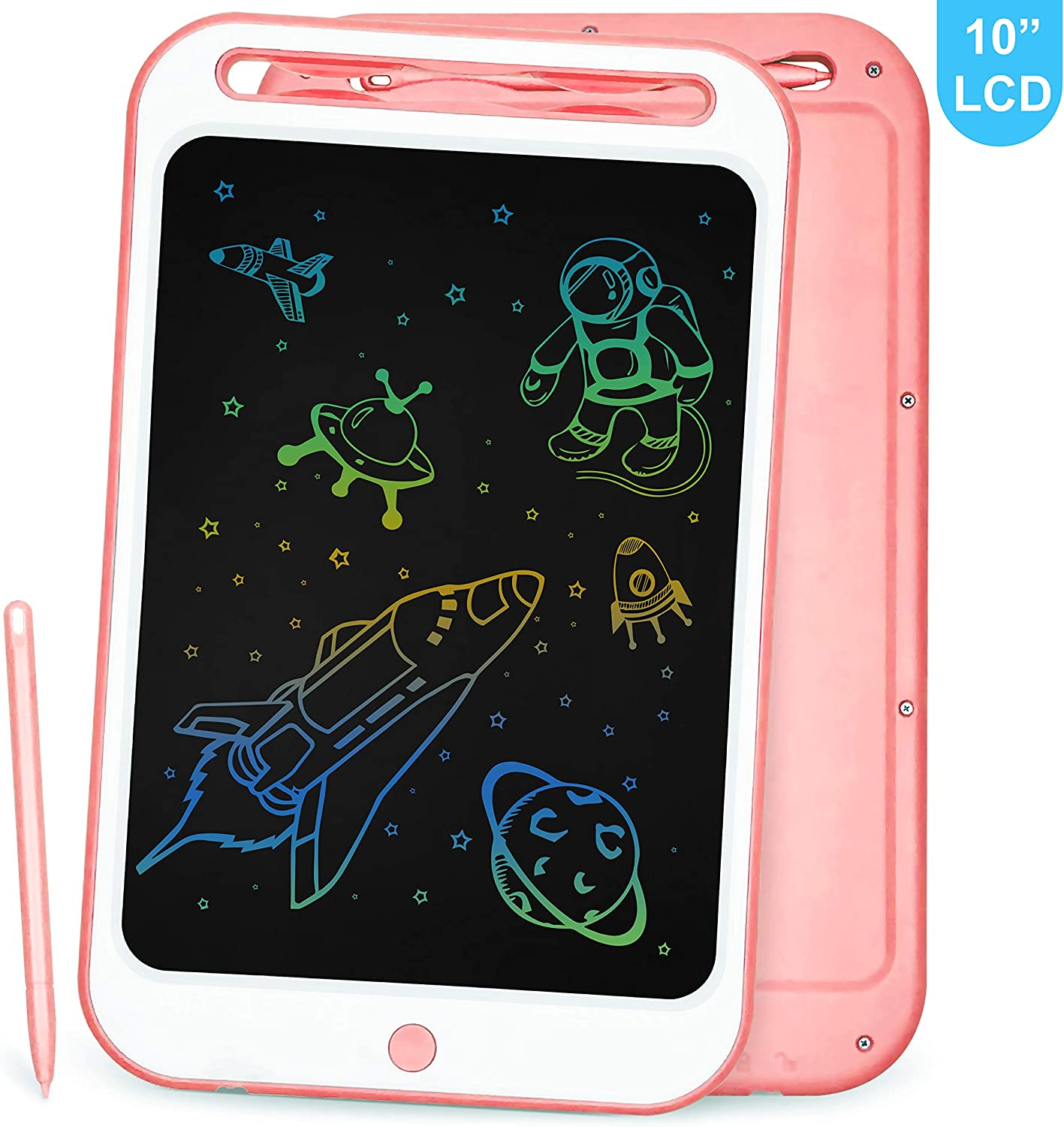 School LCD Writing Tablet Richgv 10 Inches Colorful Electronic Writing /& Drawing Doodle Board with Memory Lock Digital Writing Pad for Kids and Adults at Home Office