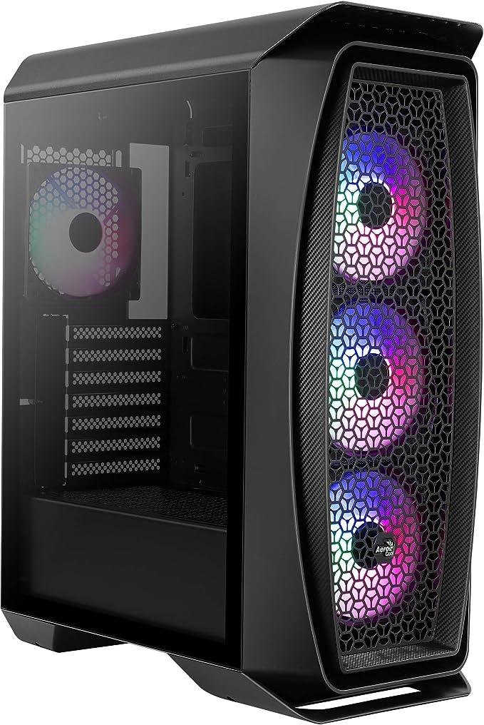 Aerocool AEROONEFROST, caja PC micro ATX, ventana lateral, 4 ventiladores, negro: Amazon.es: Informática