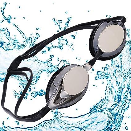 Mirrored Racing Training Fitness Swim Swimming Goggles Anti Fog UV Protection