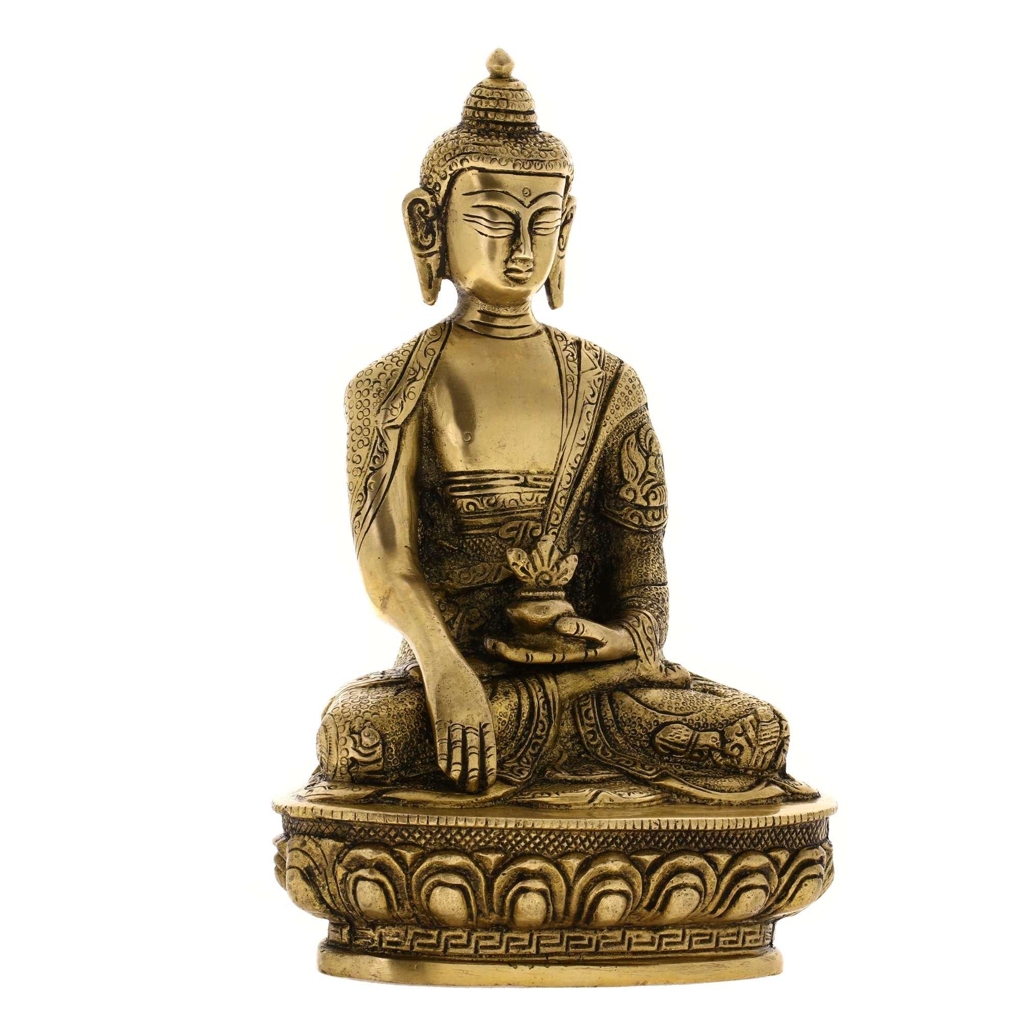 Handmade Seated Buddha Statue Sculpture India Metal Sculpture Spiritual Gifts by ShalinIndia (Image #3)