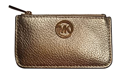 Amazon.com: Michael Kors - Monedero de piel, color dorado: Shoes