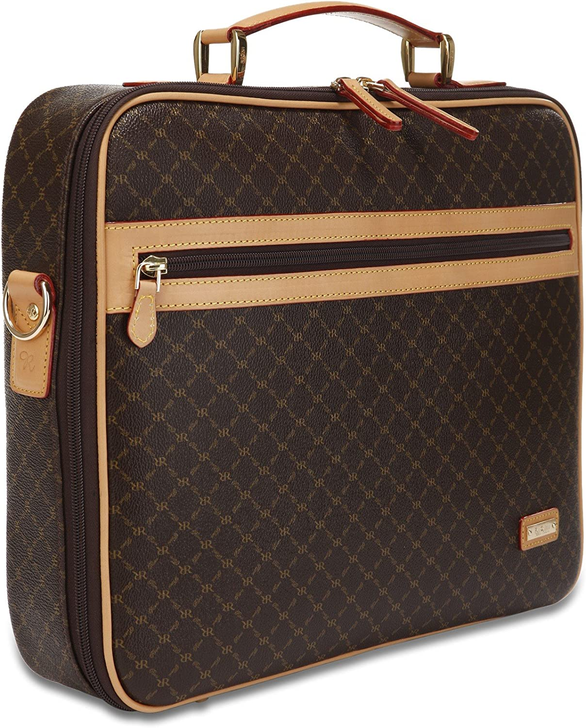 Rioni Signature Jetsetter s Laptop Briefcase – Signature Brown