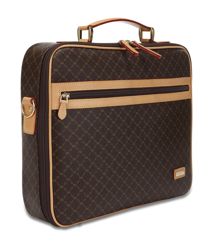 Rioni Signature Jetsetters Laptop Briefcase Signature Brown ST-20256