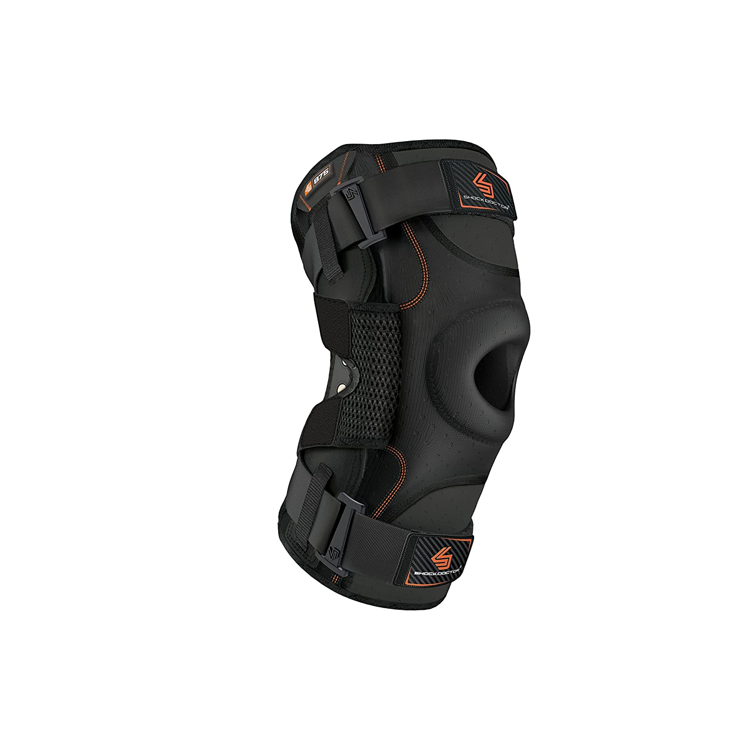 Shock Doctor Knee Brace, Knee Support for Stability, ACL/PCL Injuries, Patella Support, Prevent Hyperextension, Meniscus Injuries, Ligament Sprains for Men & Women, Sold as Single Unit (1)
