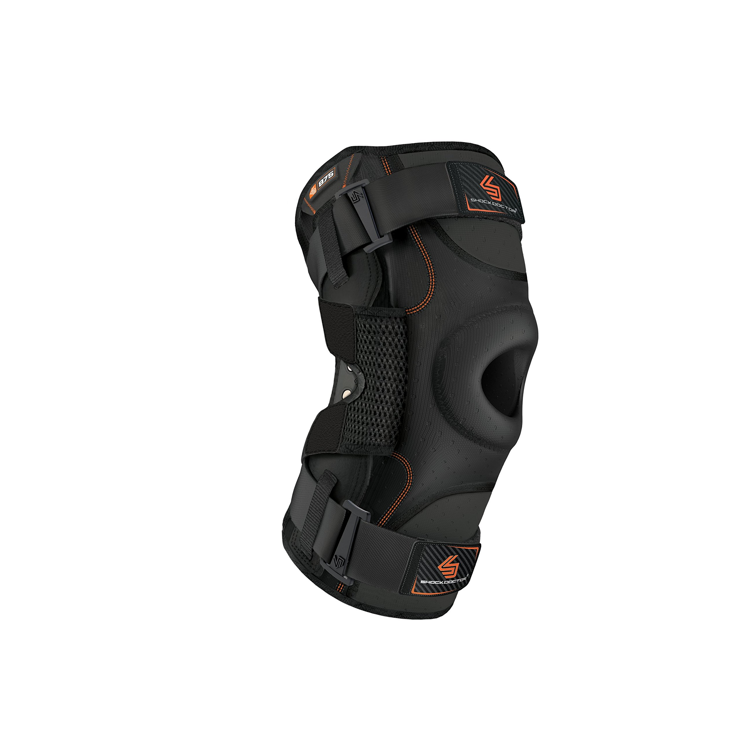 Hinged Knee Brace: Shock Doctor Maximum Support Compression Knee Brace - For ACL/PCL Injuries, Patella Support, Sprains, Hypertension and More for Men and Women - (1 Knee Brace, Large) by Shock Doctor (Image #1)