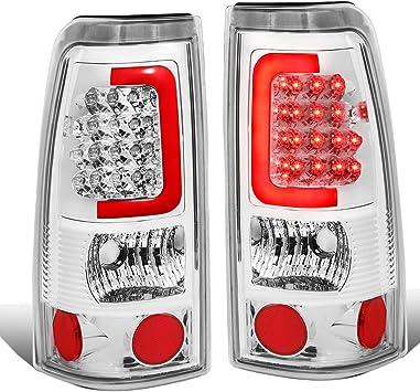 Driver /& Passenger Side DNA Motoring TL-F25008-LED-RD3D-CH-CL 3D LED Tail Light