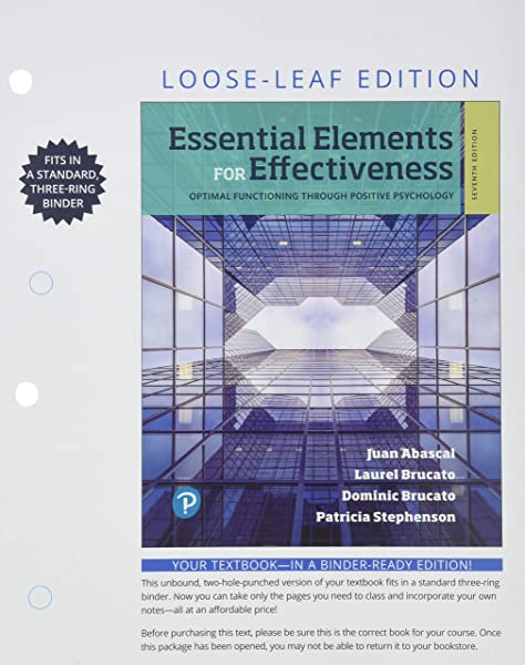Amazon Com Essential Elements For Effectiveness For Miami Dade College Loose Leaf Edition 7th Edition 9780135199213 Abascal Ph D Juan R Brucato Ph D Dominic Brucato Ph D Laurel Stephenson Patricia Books