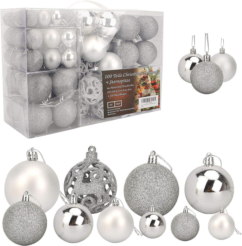 Christmas Ball Set 100 Piece 3//4//6cm Xmas Tree Hanging Balls Ornament Decoration