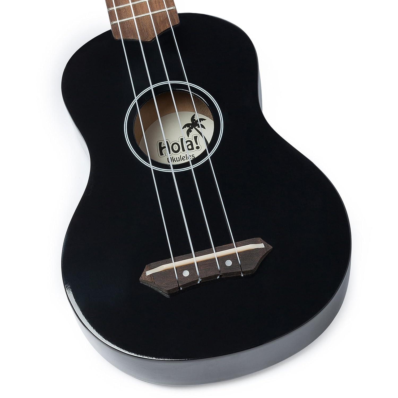 hola music hm 21bk soprano ukulele bundle with canvas