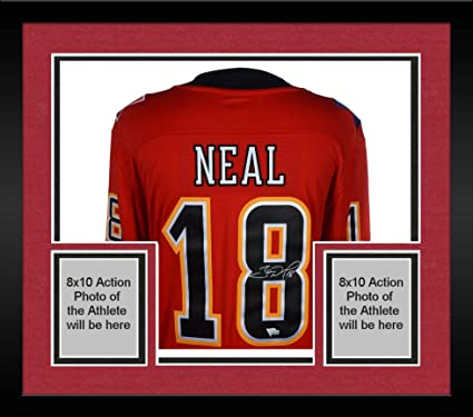 ed4a045e3 Image Unavailable. Image not available for. Color  Framed James Neal Calgary  Flames Autographed Red Fanatics Breakaway Jersey ...