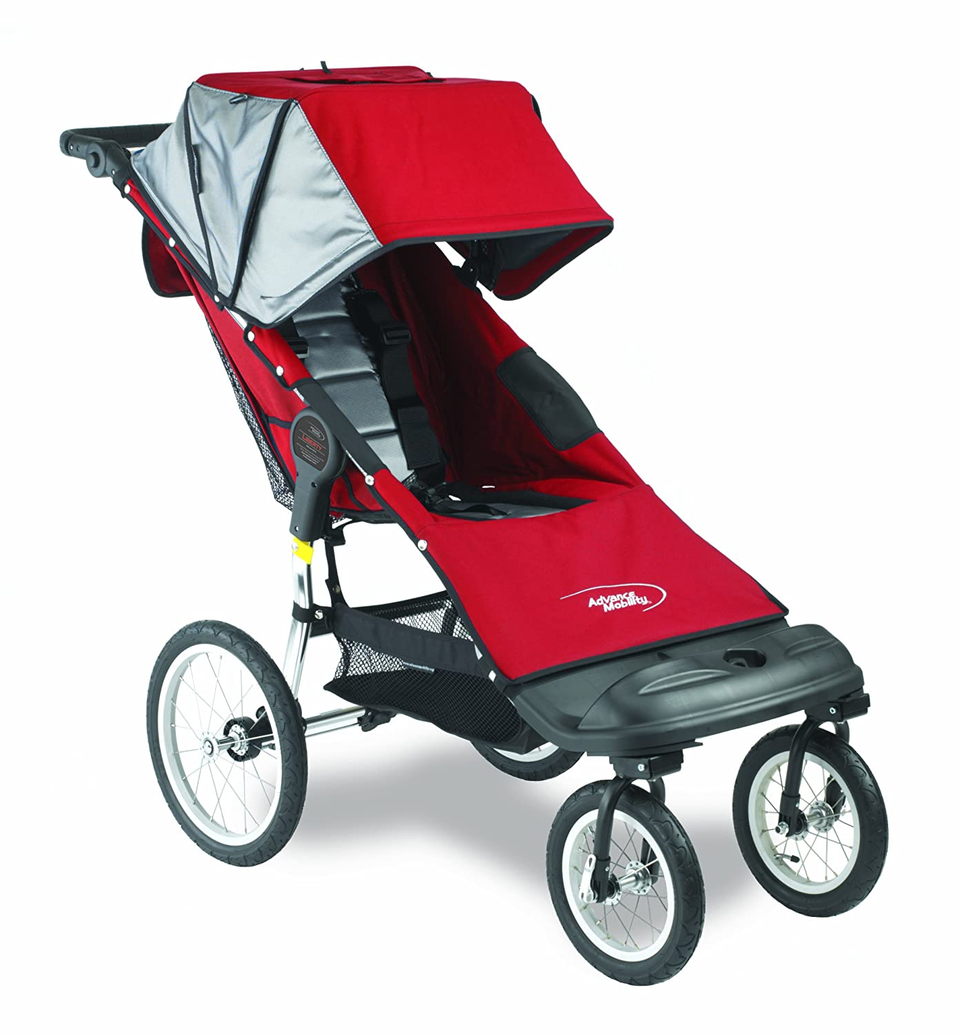 Amazon.com: Advance Liberty Push silla, Rojo de movilidad ...