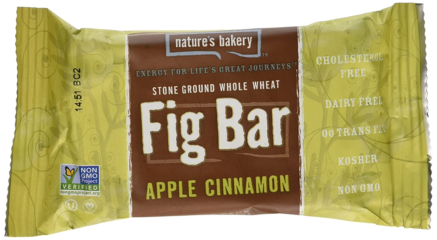 Nature's Bakery Stone Ground Whole Wheat Fig Bar Apple Cinnamon 6-2 Ounce Twin Packs (Pack of 4)