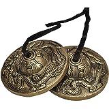 Dharma Store - Tibetan Yoga Meditation Cymbals Bell - Dragon Embossed
