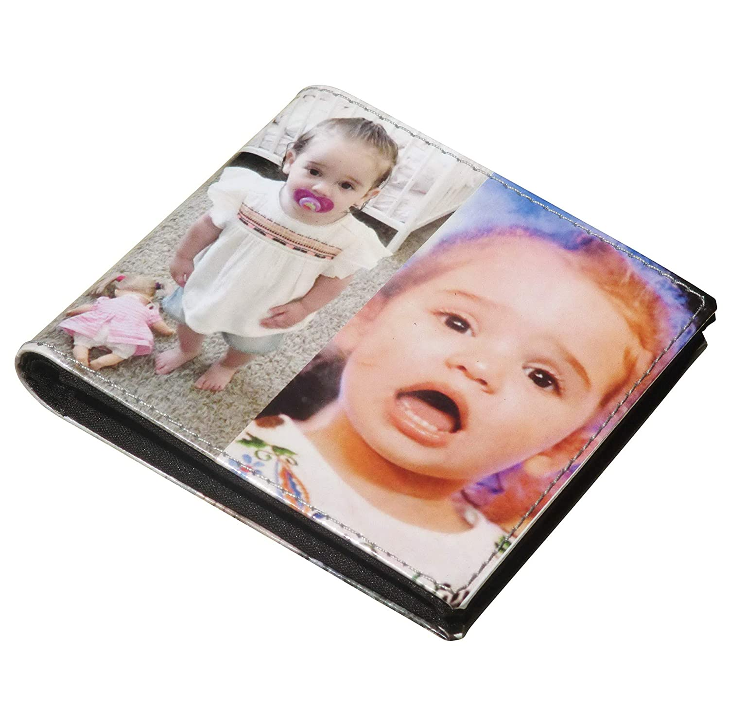 9f0fa5cf0d28 Medium custom wallet for men using pictures from you - images of me my  family picture vegan gift for dad daddy brother father boyfriend  personalized ...