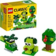 LEGO Classic Creative Green Bricks 11007 Starter Set Building Kit with Bricks and Pieces to Inspire Imaginative Play, New 20