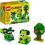 LEGO Classic Creative Green Bricks 11007 Starter Set Building Kit with Bricks and Pieces to Inspire Imaginative Play, New 2020 (60 Pieces)