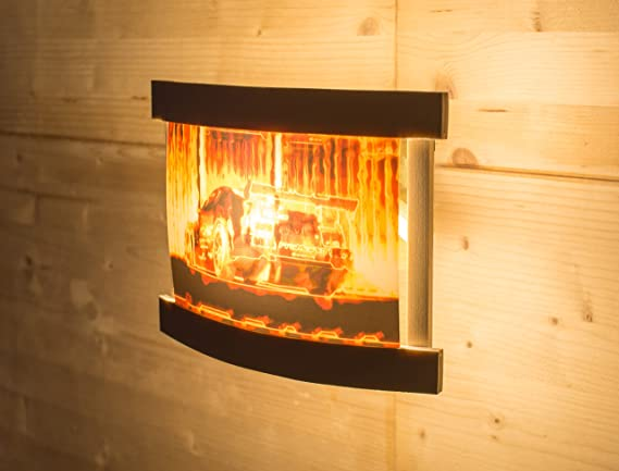 Lámpara de pared de madera Opel Calibra trasero alas DTM Uwe alzen en llamas Gatillo: Amazon.es: Iluminación