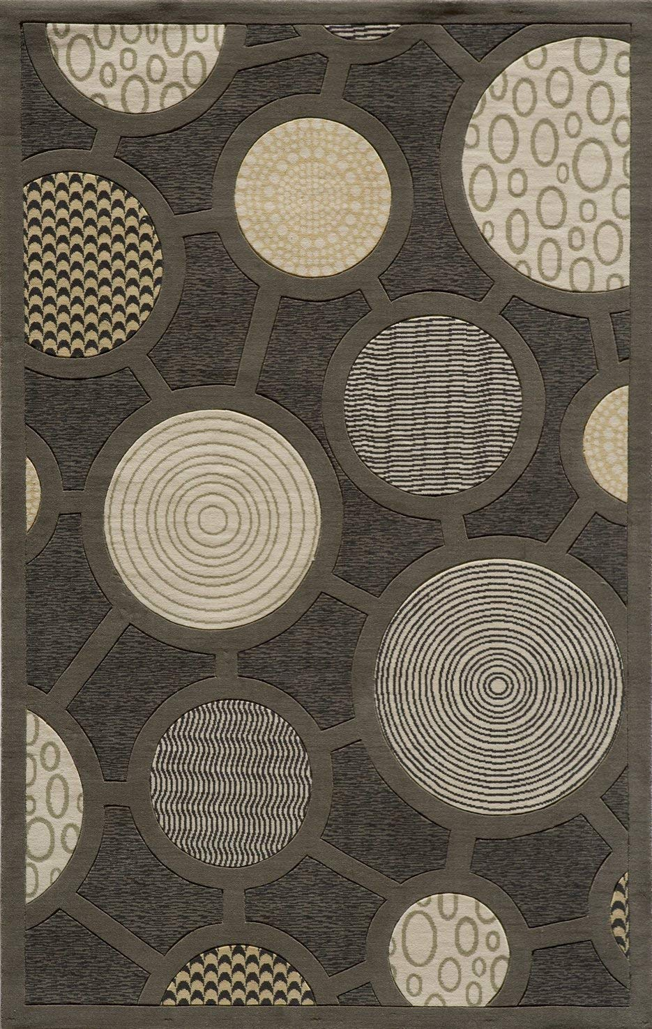 Momeni Rugs Elements Collection, 100 New Zealand Wool Hand Carved Contemporary Area Rug, 2 x 3 , Charcoal