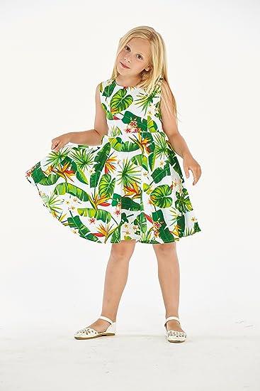 Amazon.com: Hawaii resaca niña hawaiano Vintage Fit y Flare ...